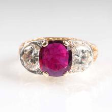 A highquality ruby diamond ring