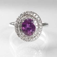 A ruby diamond ring
