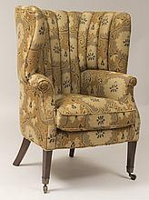 Regency Style Mahogany Barrel-Back Armchair