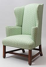 George III Style Mahogany Wing Chair
