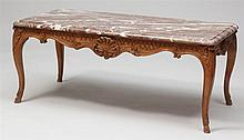 Louis XV Style Carved Oak Low Table