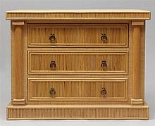 Contemporary Rattan and Woven Sea Grass Chest of Drawers, Late 20th Century