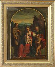Italian School: Portrait of Madonna and Child