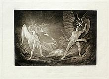 John Martin (1789-1854): Group of Fourteen Mezzotints