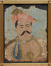 Indian School: Man with Moustache and Turban