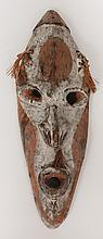 Oceanic Carved and Painted Wood Face Mask