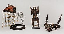 Two Headdresses and an Elephant Janus Head Heddle Pulley