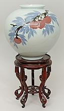 Japanese Porcelain Vase on Stand