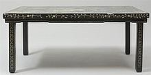 Chinese Mother-of-Pearl Inlaid Black Lacquer Low Table