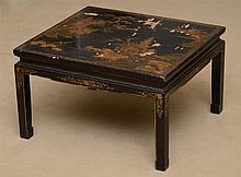 Chinese Black Lacquer Low Table