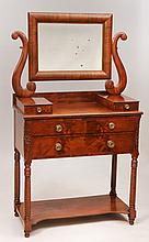 Federal Carved Mahogany Dressing Table