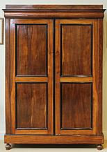 Dutch Mahogany and Ebonized Armoire