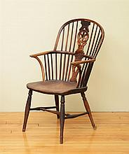 English Wheel Back Windsor Armchair
