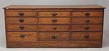 Vintage Oak Two-Sided Merchant's Chest