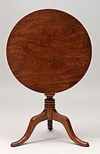Swedish Walnut Tilt-Top Tripod Tea Table