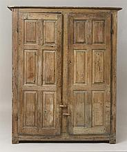 American Pickled Pine Two-Door Cupboard