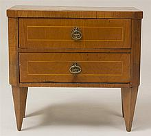 Italian Neoclassical Style Inlaid Two-Drawer Small Chest