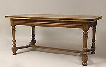 Italian Baroque Style Fruitwood Table, 20th Century
