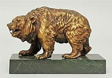 Painted and Gilt-Metal Model of a Bear