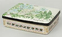 Marguerite Stix Hand-Painted Ceramic Box