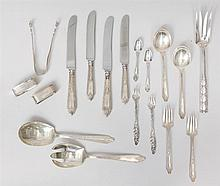50Gorham Monogrammed Silver 107-Piece Part Dinner Service, in the