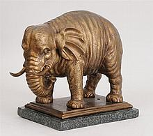 Continental Gilt-Metal Model of an Elephant, 20th Century