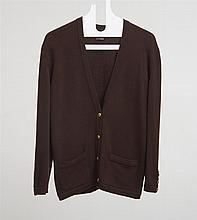 CHANEL BROWN CASHMERE CARDIGAN