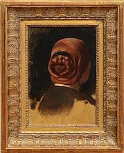 JEAN-LÉON GÉRÔME (1824-1904): WOMAN WITH A RED COILED BRAID (TÊTE DE FEMME VUE DE DOS)