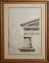 LÉON VANDEYER (1803-1872): TEMPLE ANTIQUE