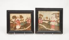 Pair of Victorian Needlework Pictures