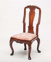 George III Style Carved Walnut Side Chair
