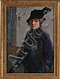 MARY BRADISH TITCOMB (1858-1927): SELF-PORTRAIT IN PURPLE VELVET, Mary Bradish Titcomb, Click for value