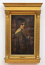 ATTRIBUTED TO MARY MACOMBER (1861-1916): PORTRAIT OF A WOMAN