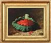 CARDUCINS PLANTAGEN REAM (1837-1917): RASPBERRIES ON A GREEN CABBAGE LEAF, Carducius Plantagenet Ream, $750