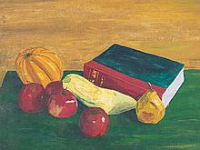 20th Century School: Still Life with Squash and Apples