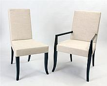 Two Robsjohn-Gibbings Ebonized Dining Chairs, Designed for Widdicomb