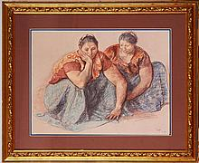 After Francisco Zuniga: Two Women