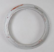 Large Silvered Wood Ring Molding
