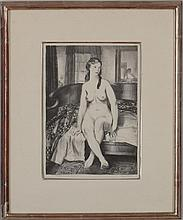 George Bellows (1882-1925): Morning, Nude on Bed (Mason 77)