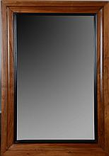 Biedermeier Style Walnut and Ebonized Mirror