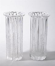 Pair of Swedish Glass Vases, Mid-20th Century Signed