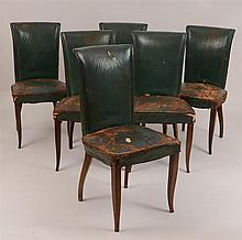 Six Art Deco Mahogany Dining Chairs