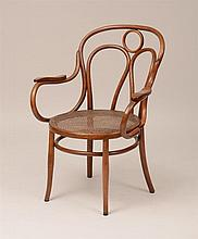 J. & J. Kohn Bentwood and Caned Armchair, Vienna