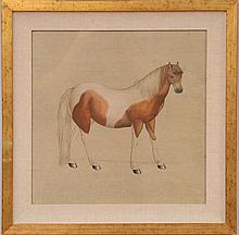 Japanese School: Horses : Two Photolithographs (?)
