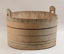 Bentwood-Banded Two-Handled Bucket
