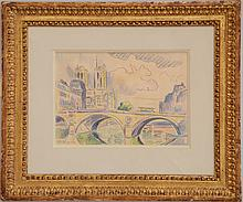 After Paul Signac (1863-1935): Le Pont Neuf