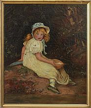 After John Everett Millais (1829-1896): Little Miss Muffet