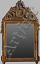 Louis XVI Carved, Painted and Parcel-Gilt Mirror