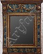 Italian Neoclassical Carved, Painted and Parcel-Gilt Wall Mirror