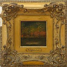 ATTRIBUTED TO RALPH ALBERT BLAKELOCK (1847-1919): SUNSET LANDSCAPE